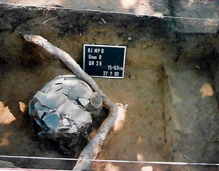 Escavação da Urna infantil em Campos dos Goitacazes. Foto: IAB