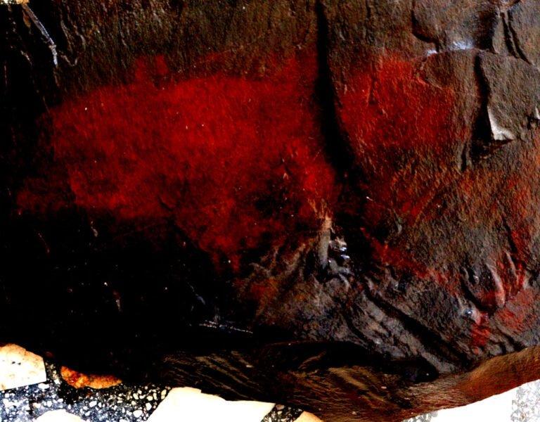 Imagem em alto constrate. Foto: Michael Marques da arte rupestre na Rocha. Fonte: Michael Marques